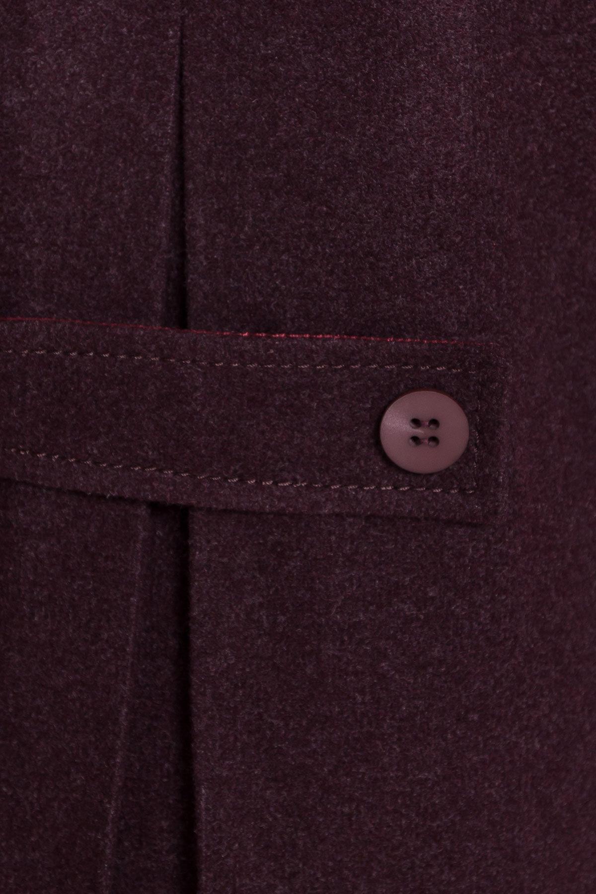 Демисезонное пальто трапеция в расцветках Латте 5429 Цвет: Марсала