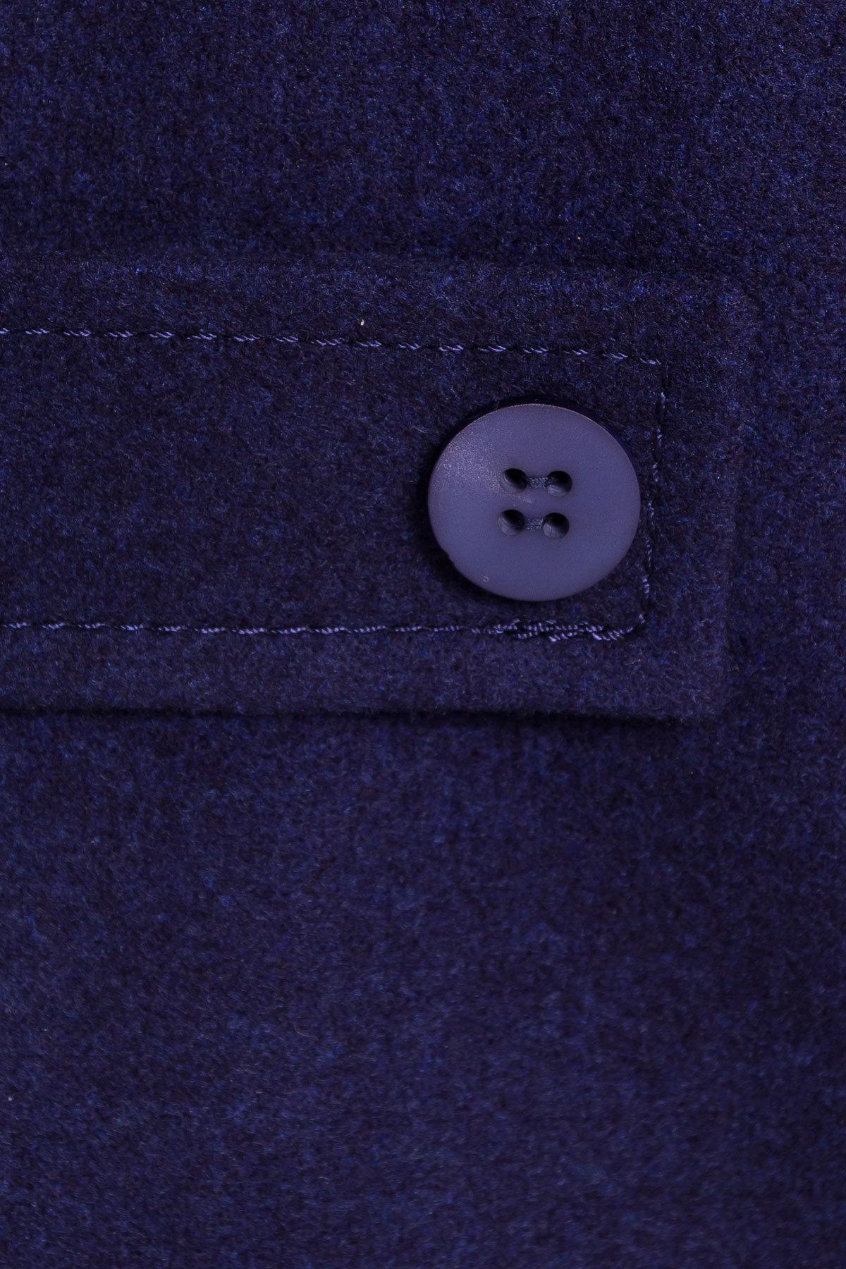 Демисезонное пальто трапеция в расцветках Латте 5429 АРТ. 36672 Цвет: Темно-синий 17 - фото 6, интернет магазин tm-modus.ru