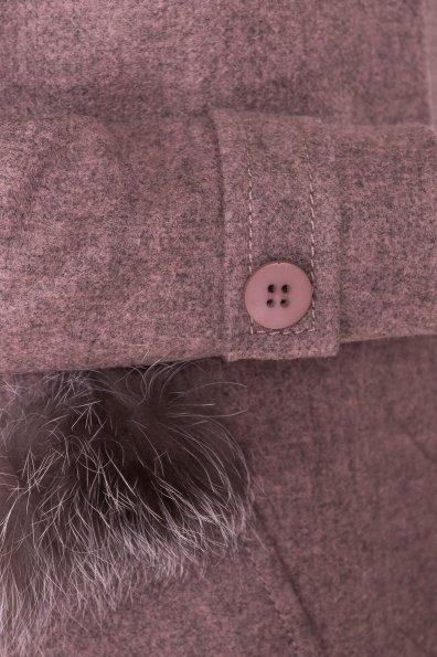 Демисезонное пальто трапеция в расцветках Латте 5429 Цвет: Какао