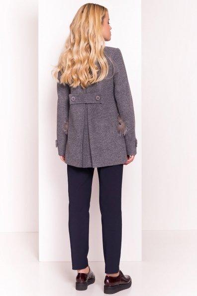Демисезонное пальто трапеция в расцветках Латте 5429 Цвет: Серый Темный