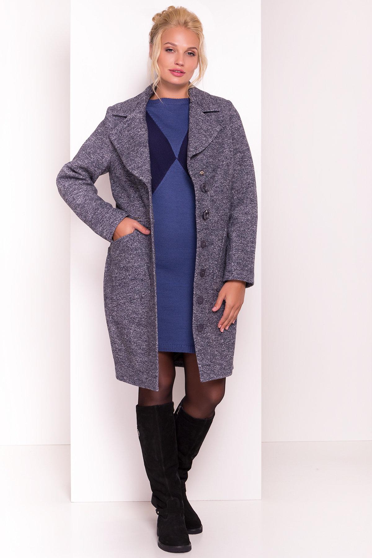 Пальто Габриэлла Donna 4554 Цвет: Серый темный LW-22