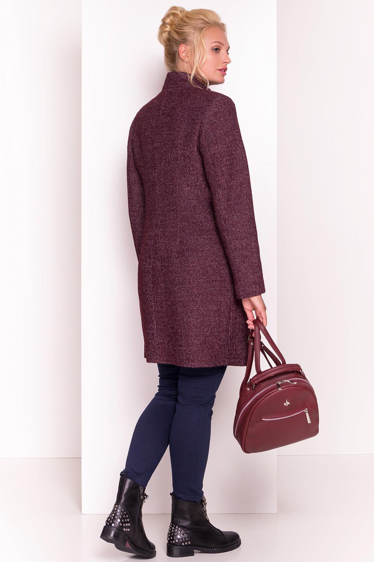 Пальто на потайных пуговицах Сплит Donna 3290 Цвет: Марсала