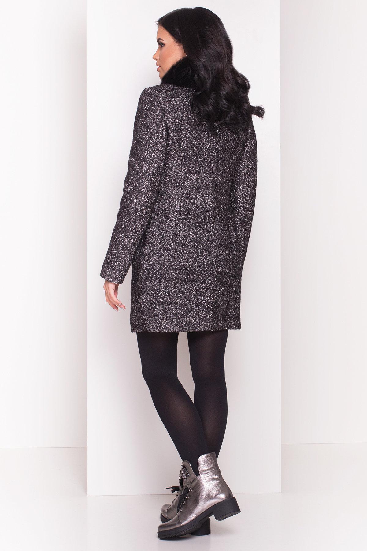 Пальто зима Сан-Ремо 0679 Цвет: Черный / серый 6