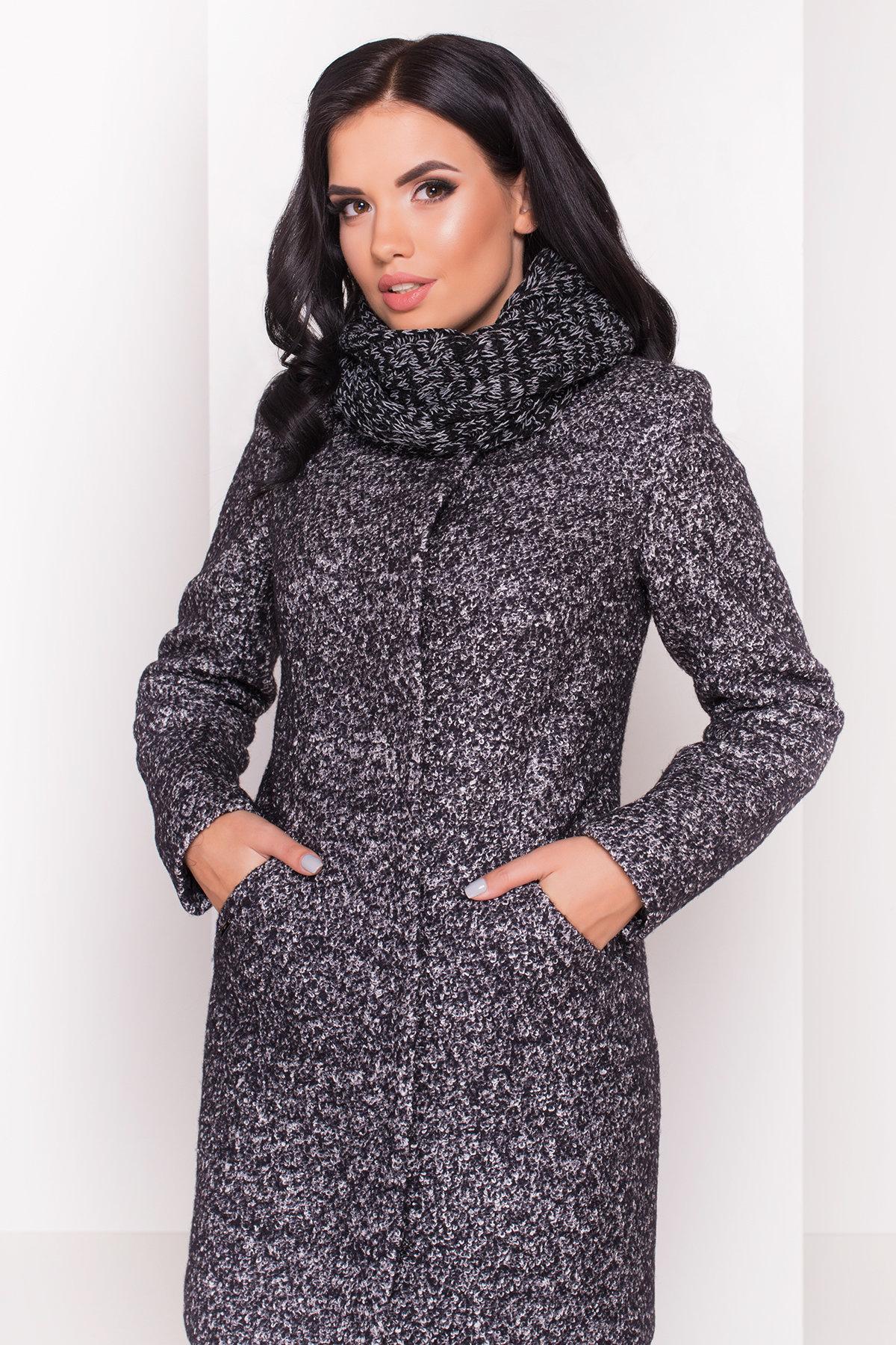 Пальто зима Сплит 0944 Цвет: Черный / серый 6