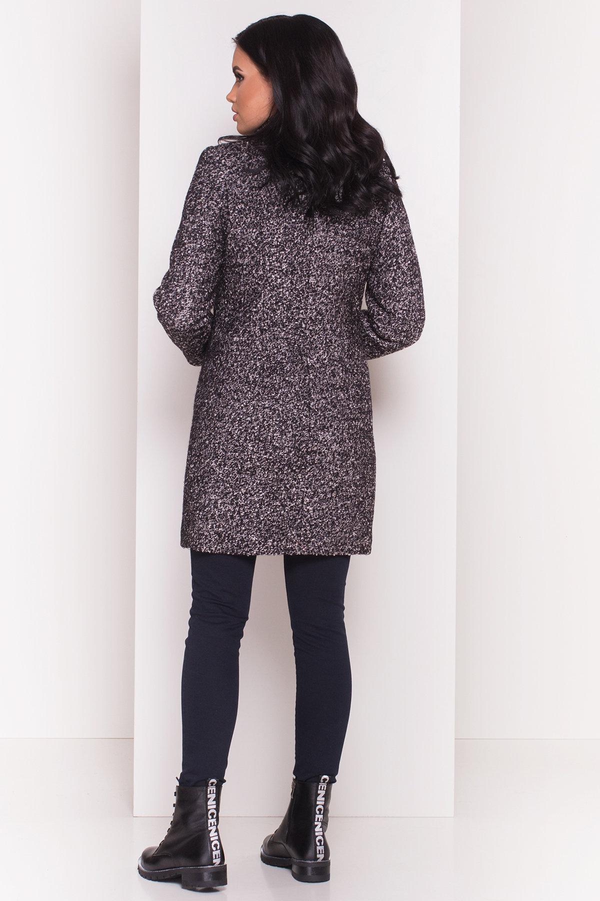 Пальто зима Фортуна 0574 АРТ. 7226 Цвет: Черный / серый 6 - фото 3, интернет магазин tm-modus.ru