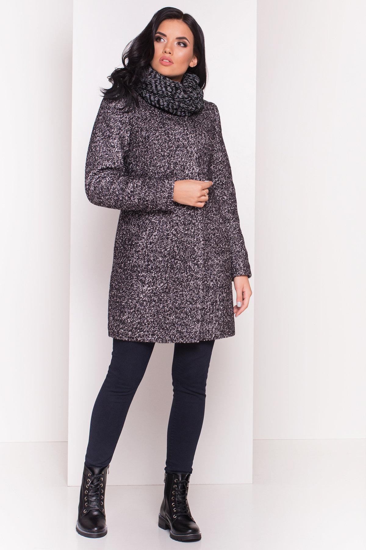 Пальто зима Фортуна 0574 Цвет: Черный / серый 6