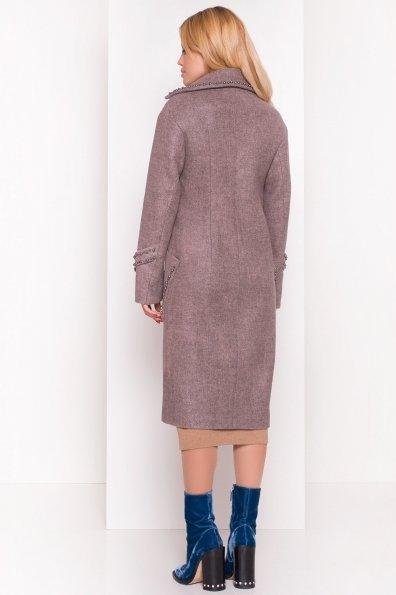 Кашемировое демисезонное пальто с декором Алина 5248 Цвет: Какао