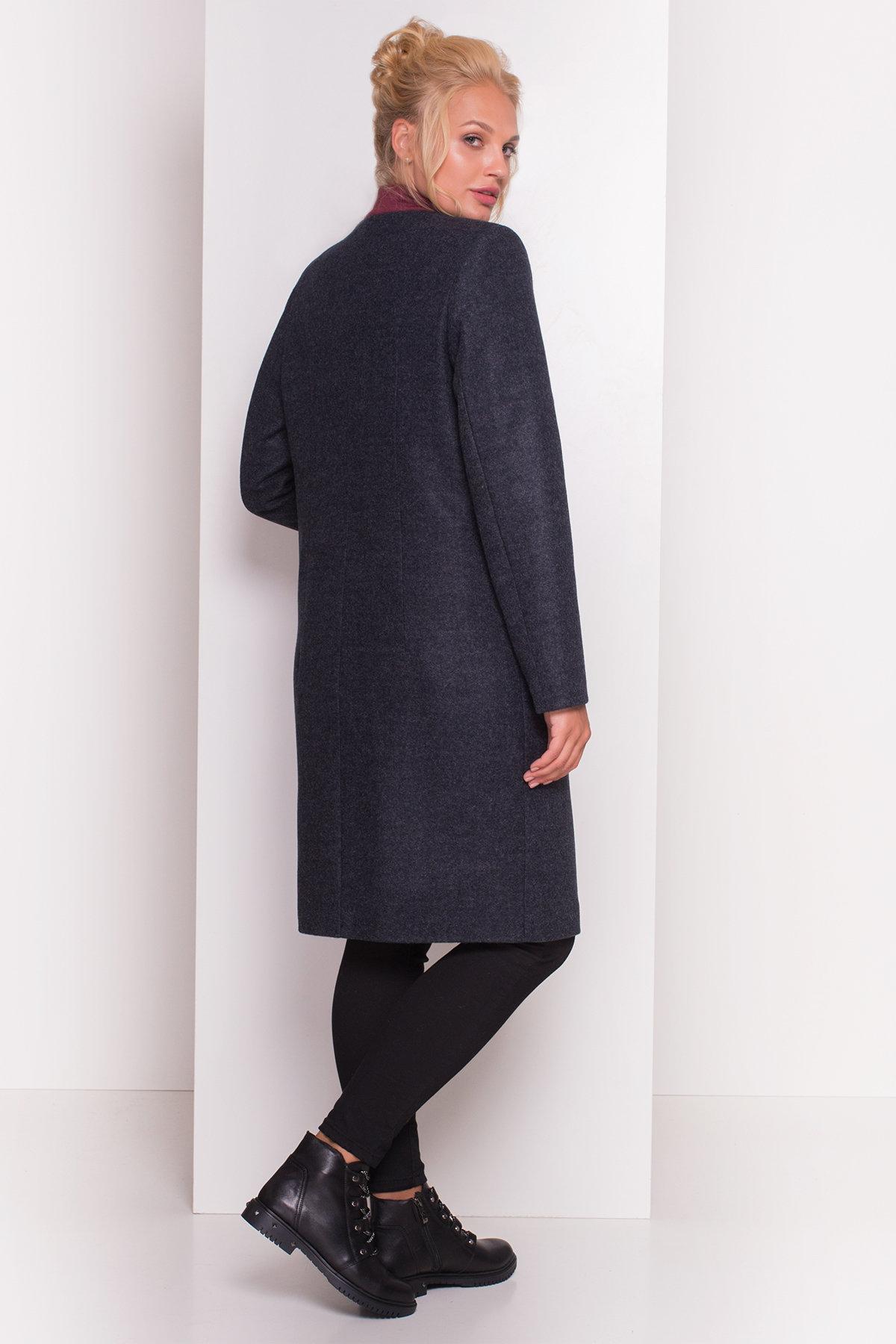 Пальто Фортуна лайт Donna 4464 АРТ. 21360 Цвет: Темно-синий - фото 4, интернет магазин tm-modus.ru