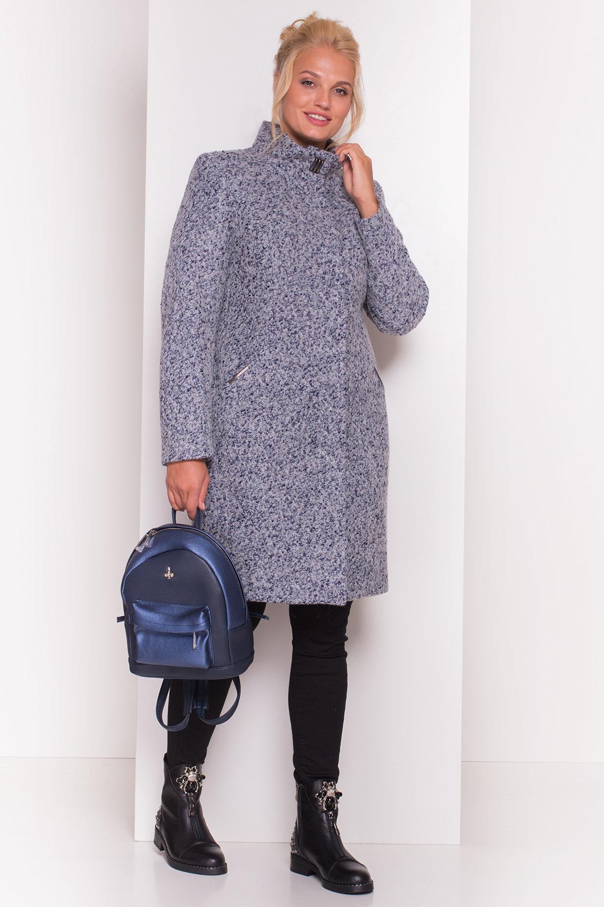Пальто зима Луара Donna 3685 АРТ. 19181 Цвет: Серый/голубой - фото 2, интернет магазин tm-modus.ru