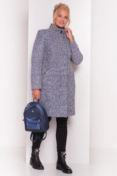 Пальто зима Луара Donna 3685 Цвет: Серый/голубой