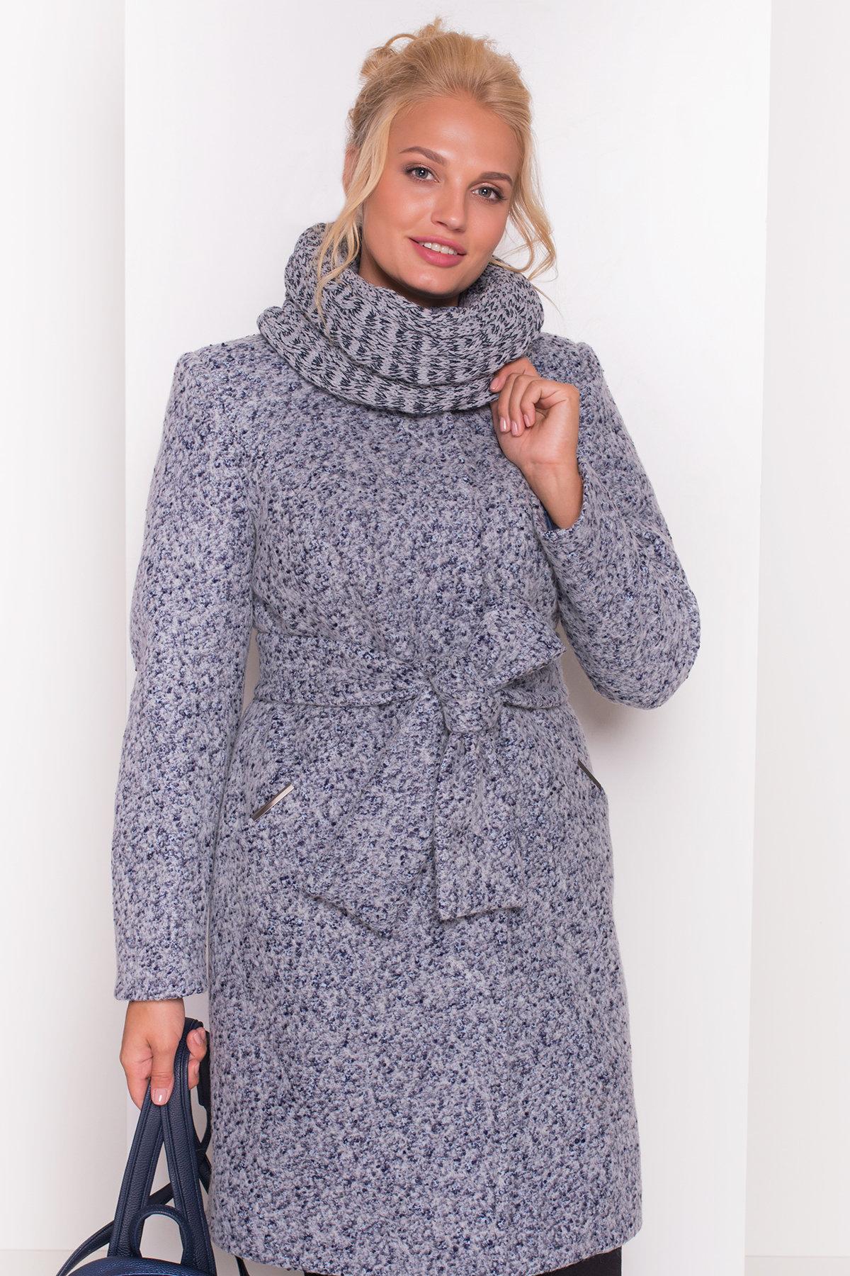 Пальто зима Луара Donna 3685 АРТ. 19181 Цвет: Серый/голубой - фото 4, интернет магазин tm-modus.ru