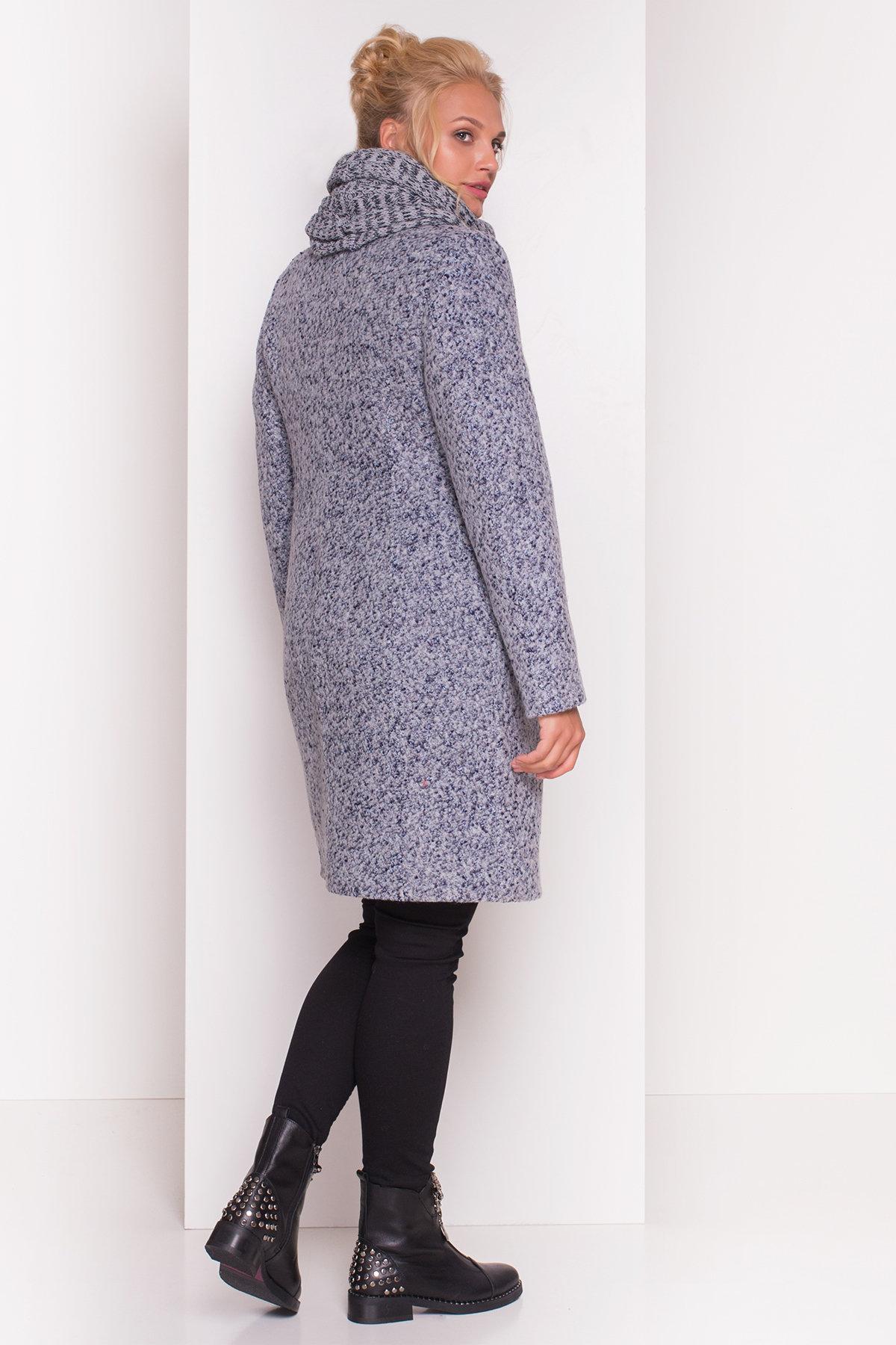 Пальто зима Луара Donna 3685 АРТ. 19181 Цвет: Серый/голубой - фото 5, интернет магазин tm-modus.ru