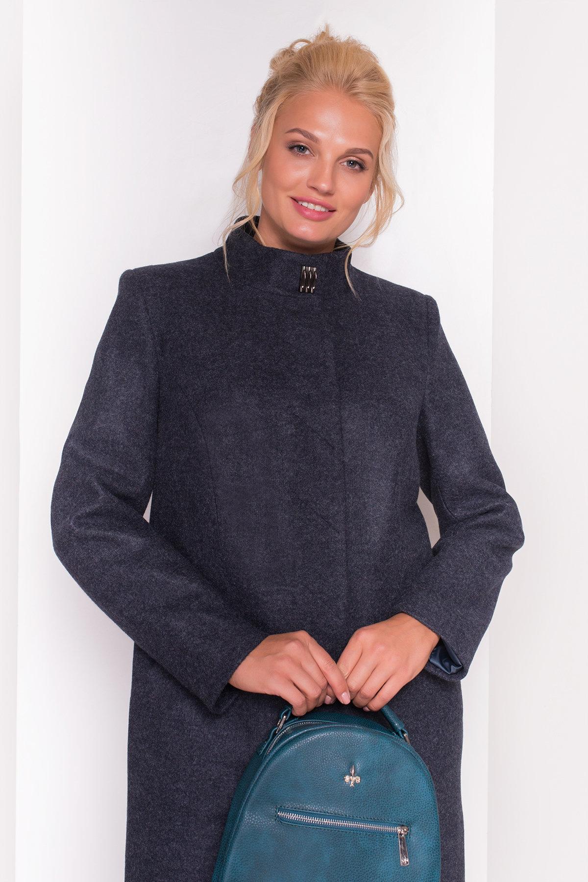 Пальто Сплит DONNA 4466 АРТ. 21354 Цвет: Темно-синий - фото 3, интернет магазин tm-modus.ru