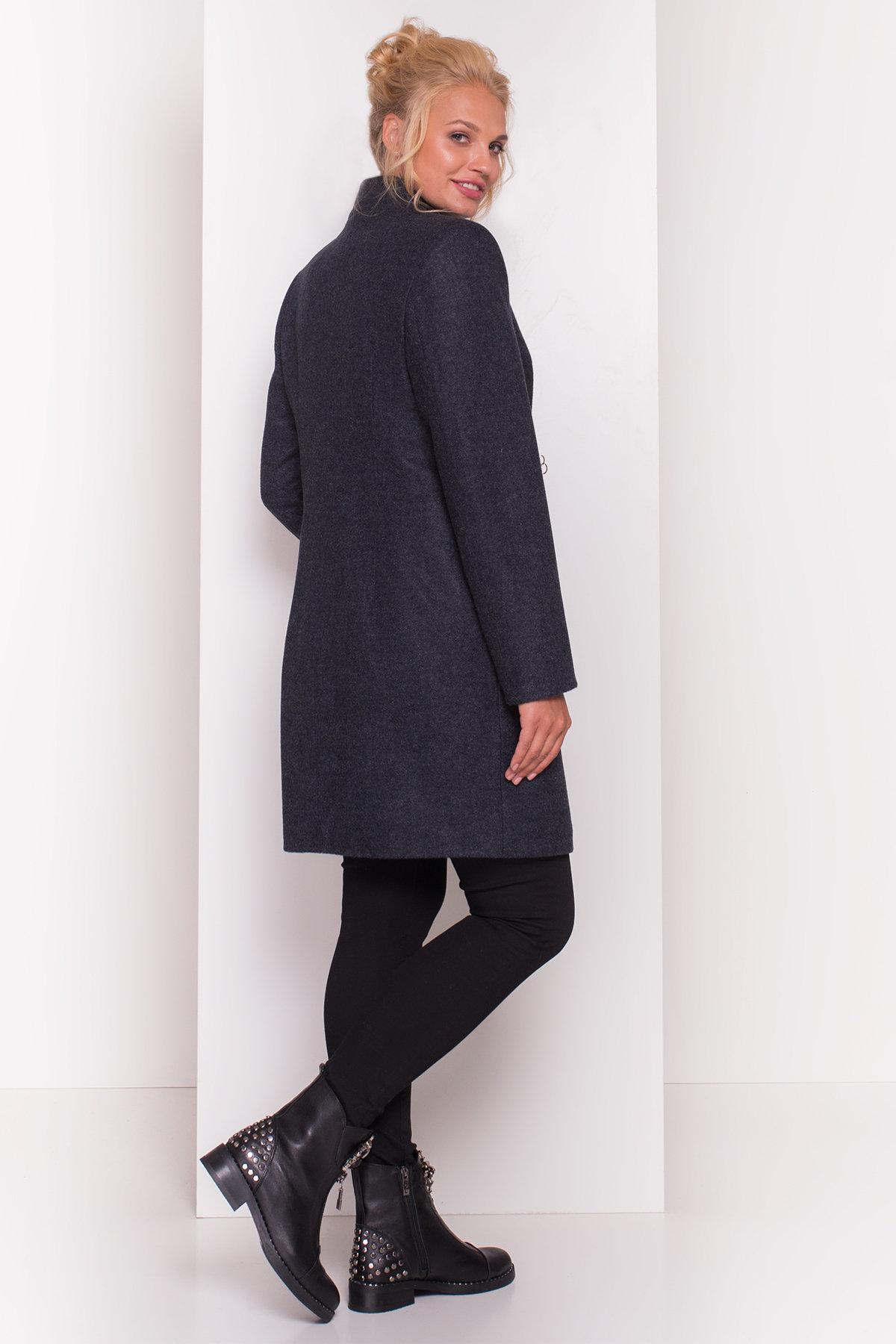 Пальто Сплит DONNA 4466 АРТ. 21354 Цвет: Темно-синий - фото 4, интернет магазин tm-modus.ru