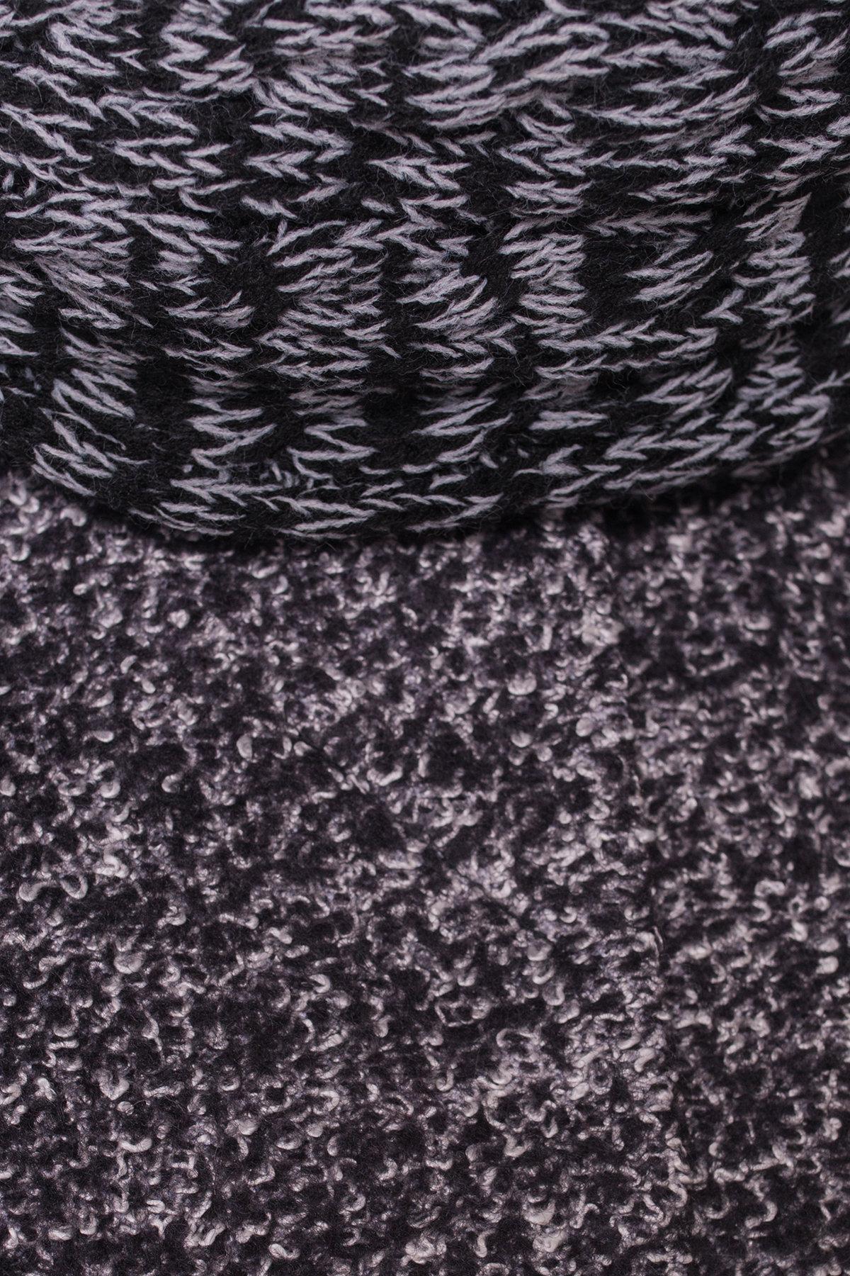 Пальто зима Луара Donna 3685 Цвет: Черный/серый