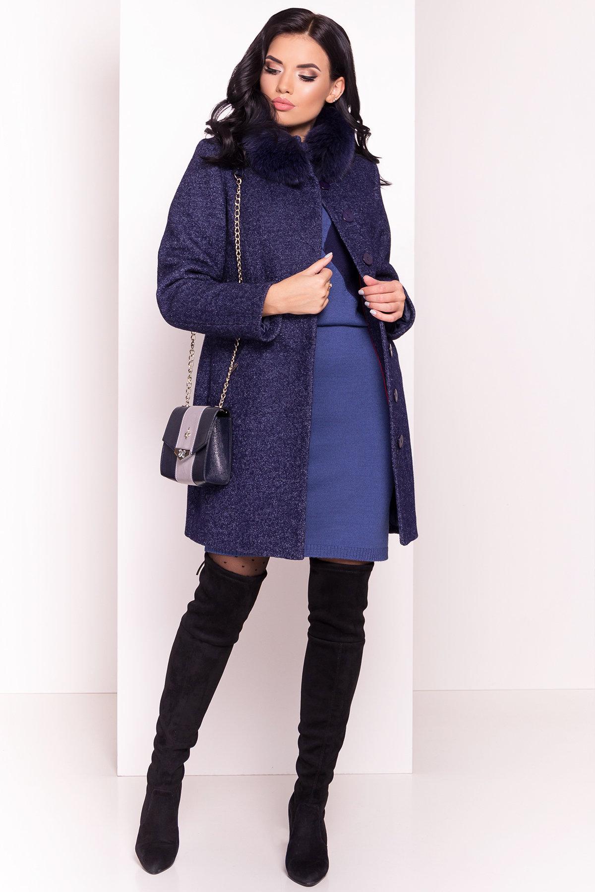 Пальто зима Сплит 3359 АРТ. 18862 Цвет: Темно-синий - фото 1, интернет магазин tm-modus.ru