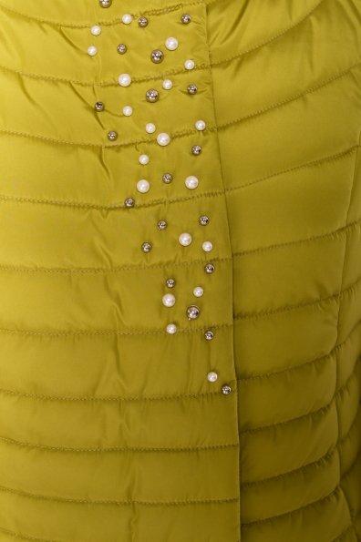 Стильное стеганое пальто Блисс 4520 Цвет: Олива