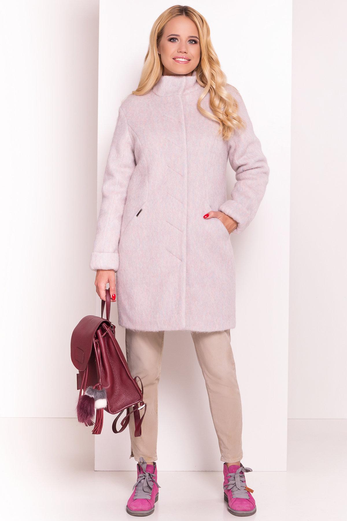 Пальто зима Рокси 4107 Цвет: Розовый/голубой