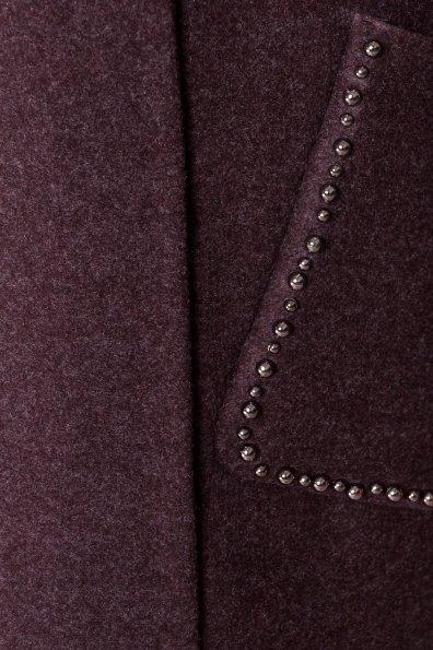 Кашемировое демисезонное пальто с декором Алина 5248 Цвет: Шоколад