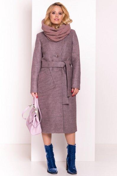 Удлиненное пальто на зиму Габриэлла 4151 Цвет: Какао