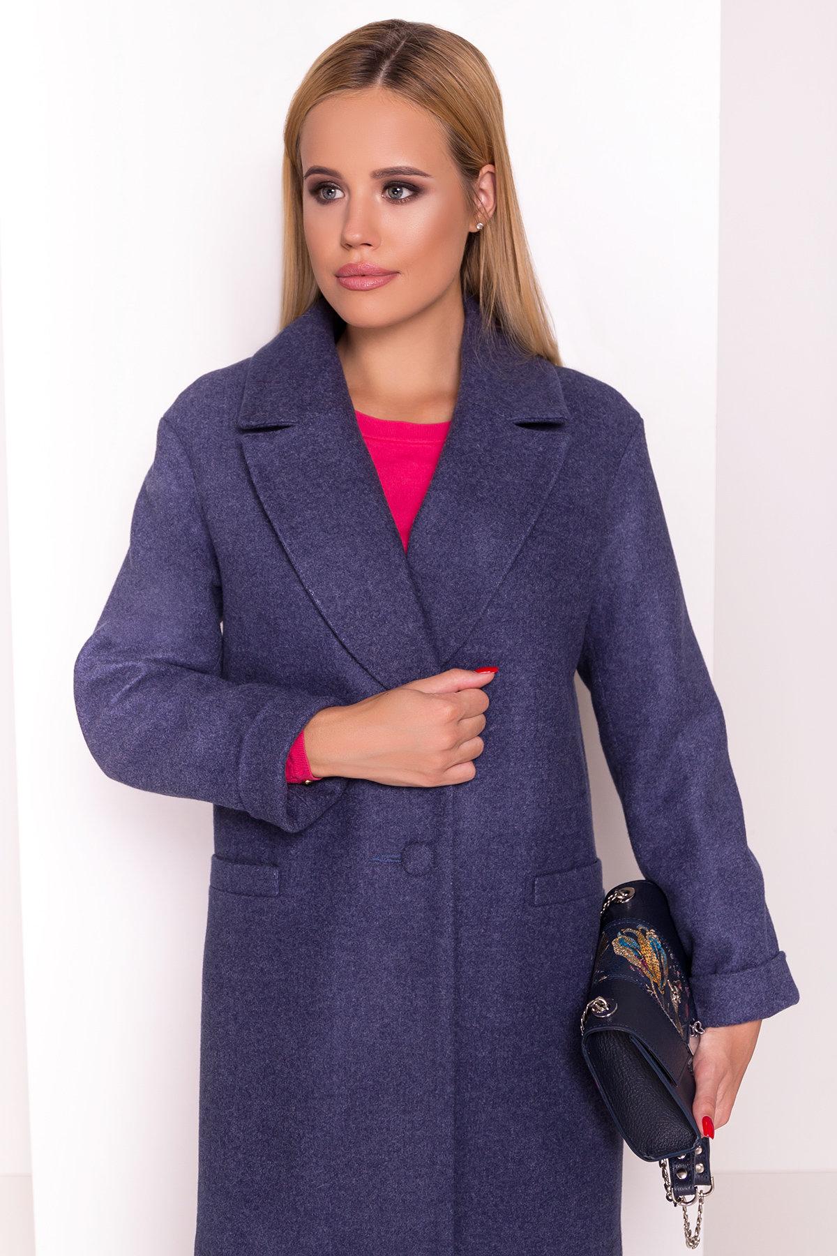 Пальто Вива 4558 АРТ. 37263 Цвет: Джинс - фото 3, интернет магазин tm-modus.ru