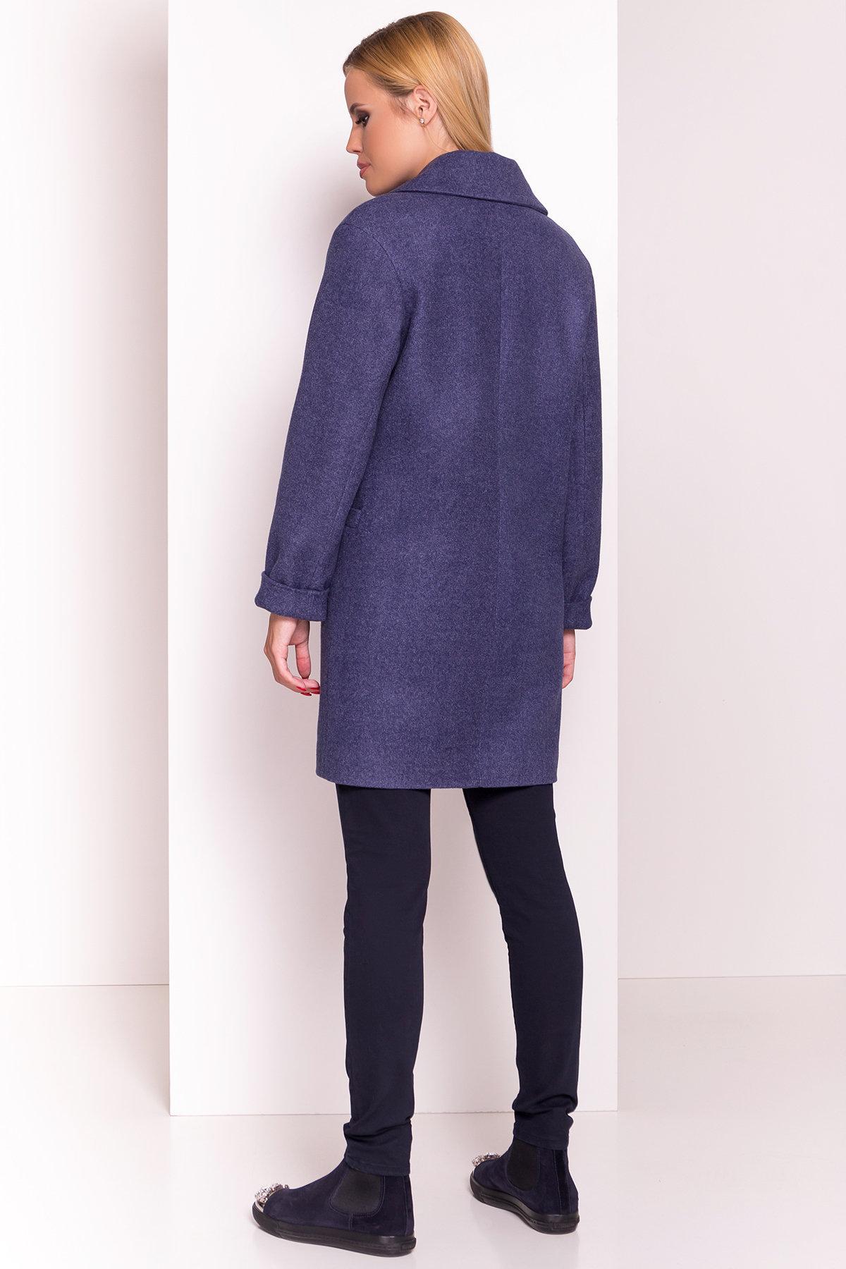 Пальто Вива 4558 АРТ. 37263 Цвет: Джинс - фото 4, интернет магазин tm-modus.ru
