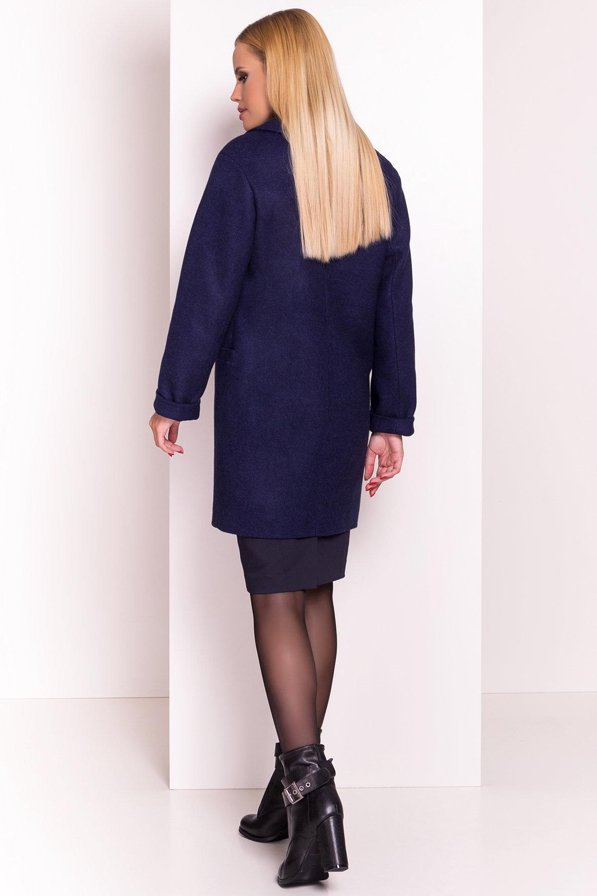 Демисезонное пальто Вива 4558 АРТ. 37261 Цвет: Темно-синий 17 - фото 4, интернет магазин tm-modus.ru