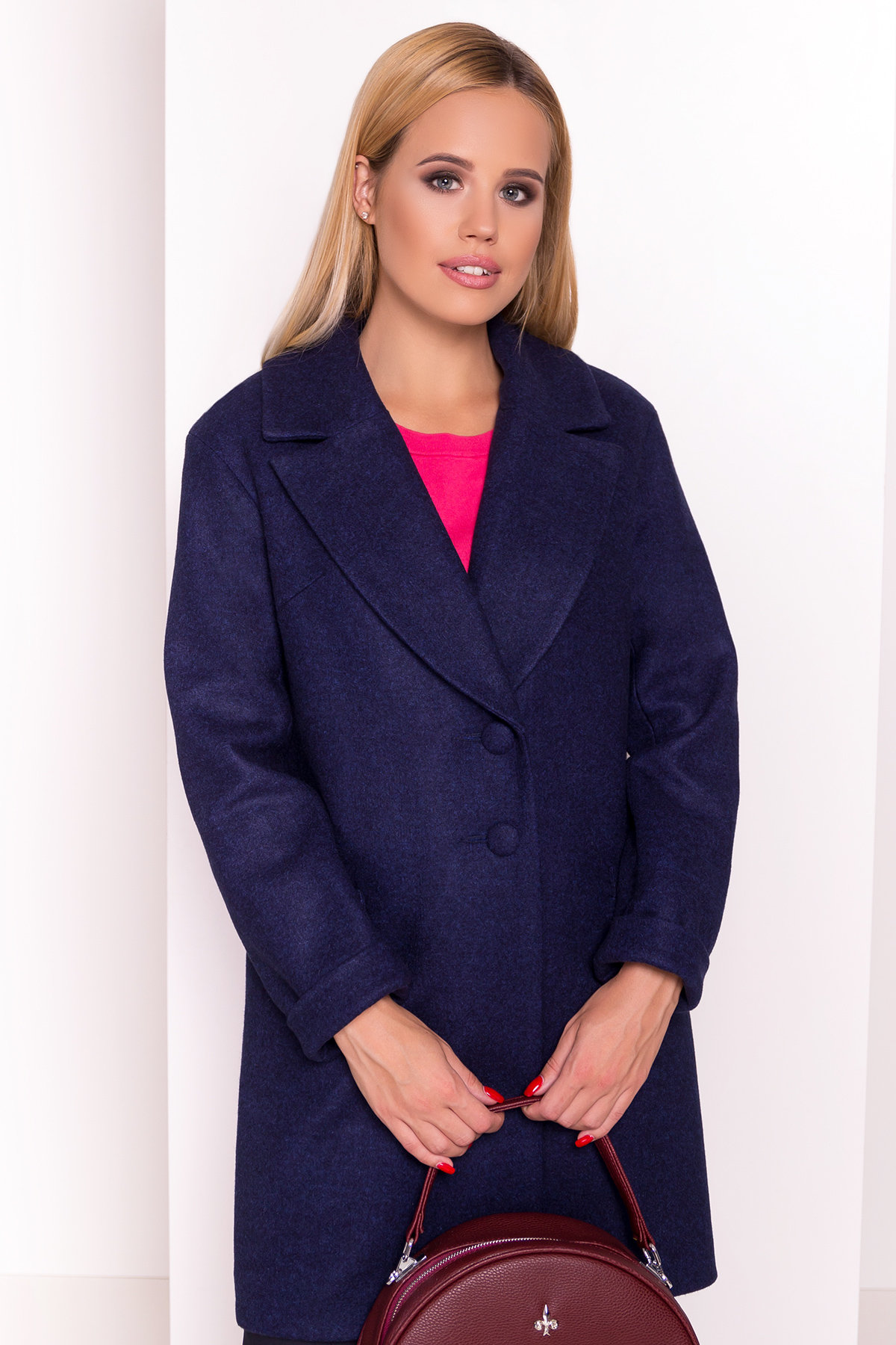 Демисезонное пальто Вива 4558 АРТ. 37261 Цвет: Темно-синий 17 - фото 3, интернет магазин tm-modus.ru
