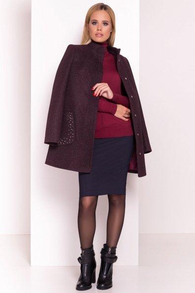 Пальто Даймон 5377 Цвет: Марсала