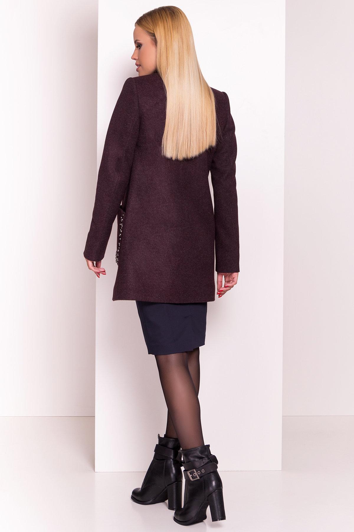 Пальто Даймон 5377 АРТ. 36740 Цвет: Марсала - фото 4, интернет магазин tm-modus.ru