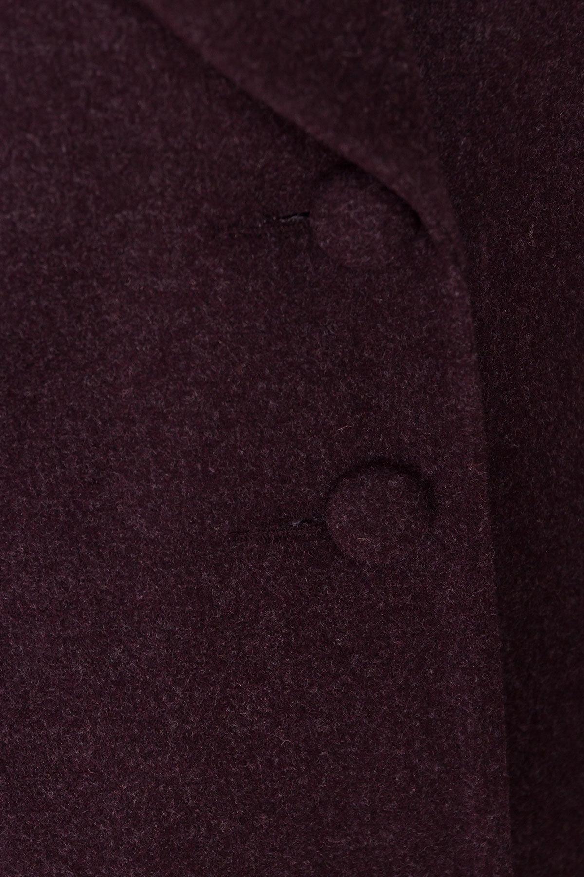Демисезонное пальто Вива 4558 АРТ. 37265 Цвет: Марсала - фото 5, интернет магазин tm-modus.ru