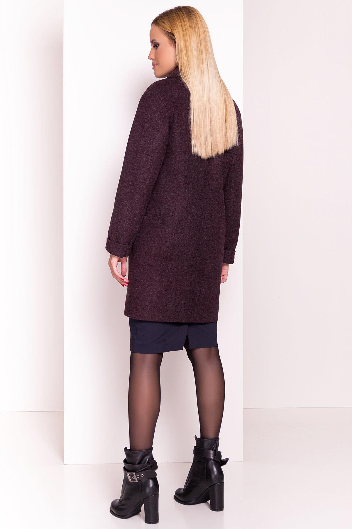 Демисезонное пальто Вива 4558 АРТ. 37265 Цвет: Марсала - фото 4, интернет магазин tm-modus.ru