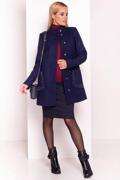 Пальто Даймон 5377 Цвет: Темно-синий 17