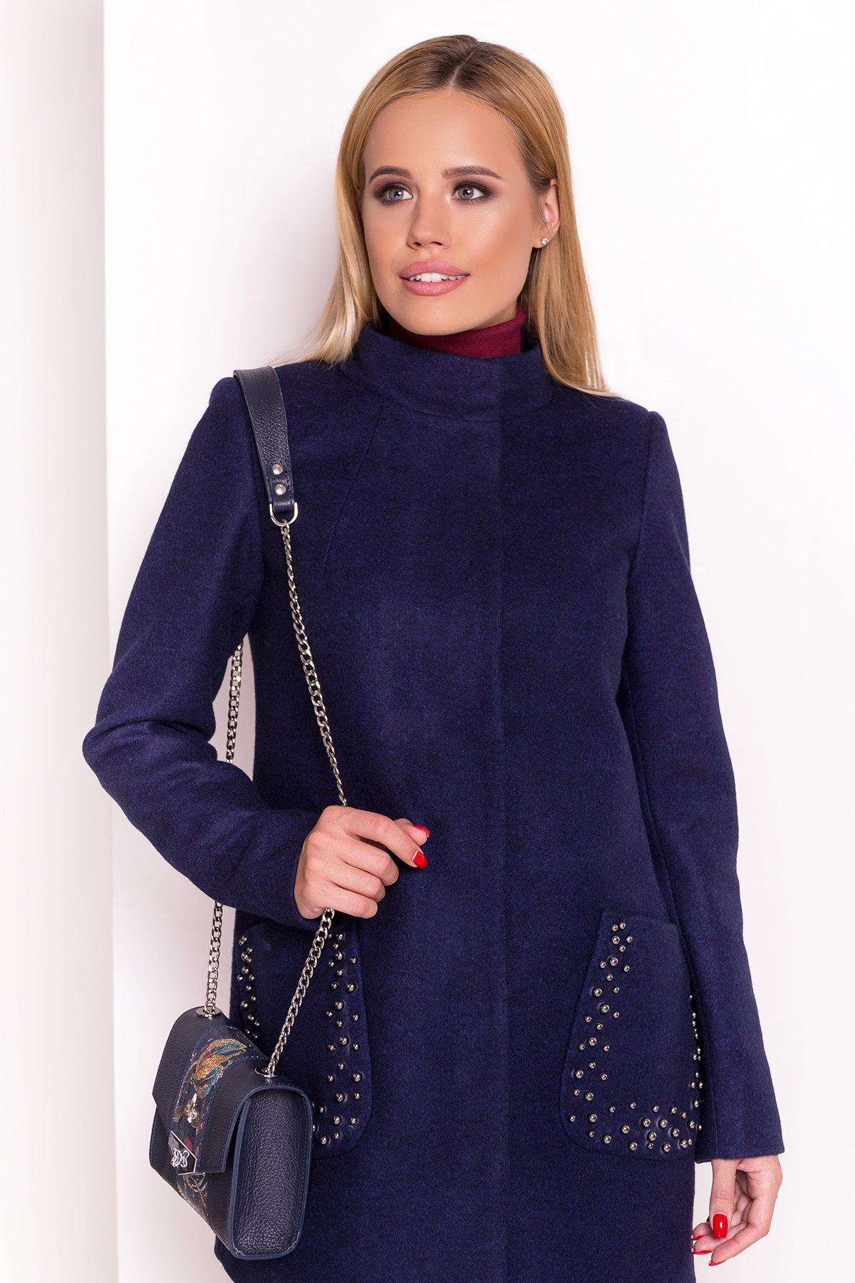 Пальто Даймон 5377 АРТ. 36745 Цвет: Темно-синий 17 - фото 3, интернет магазин tm-modus.ru