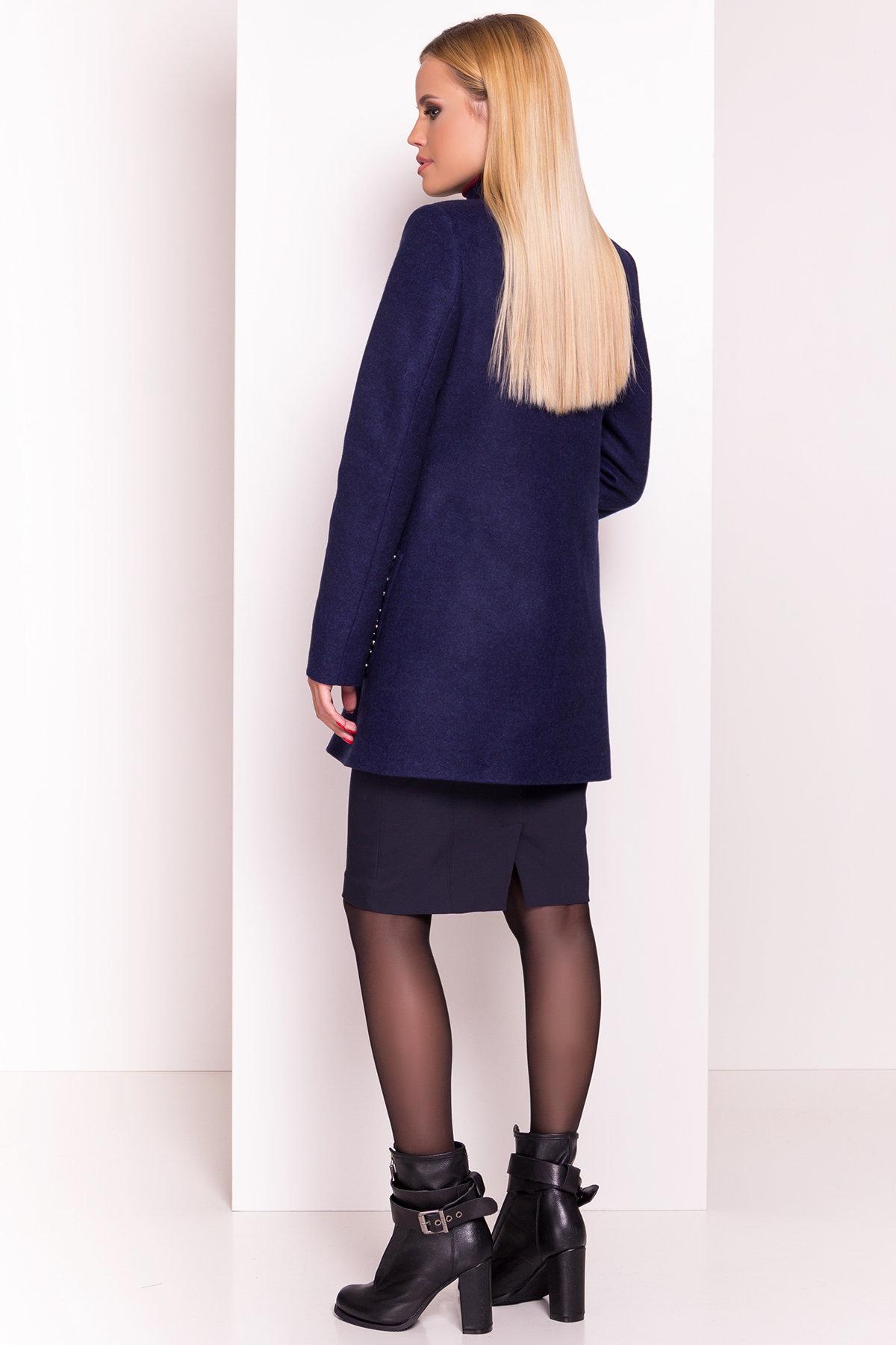 Пальто Даймон 5377 АРТ. 36745 Цвет: Темно-синий 17 - фото 4, интернет магазин tm-modus.ru