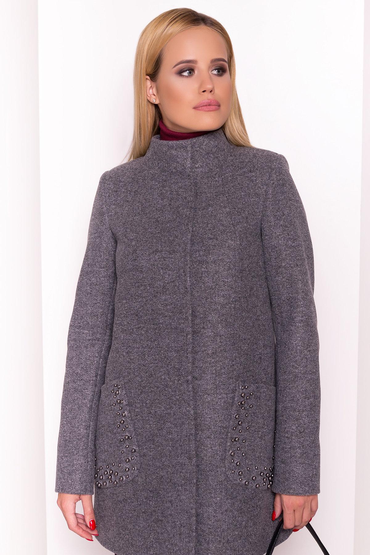 Пальто Даймон 5377 АРТ. 36741 Цвет: Серый Темный - фото 3, интернет магазин tm-modus.ru