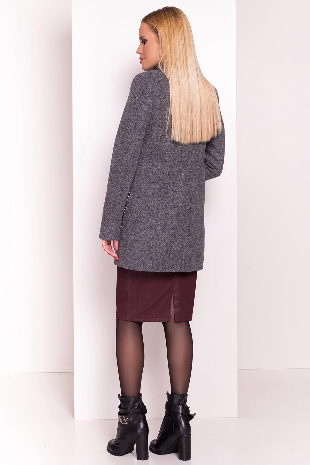 Пальто Даймон 5377 АРТ. 36741 Цвет: Серый Темный - фото 4, интернет магазин tm-modus.ru