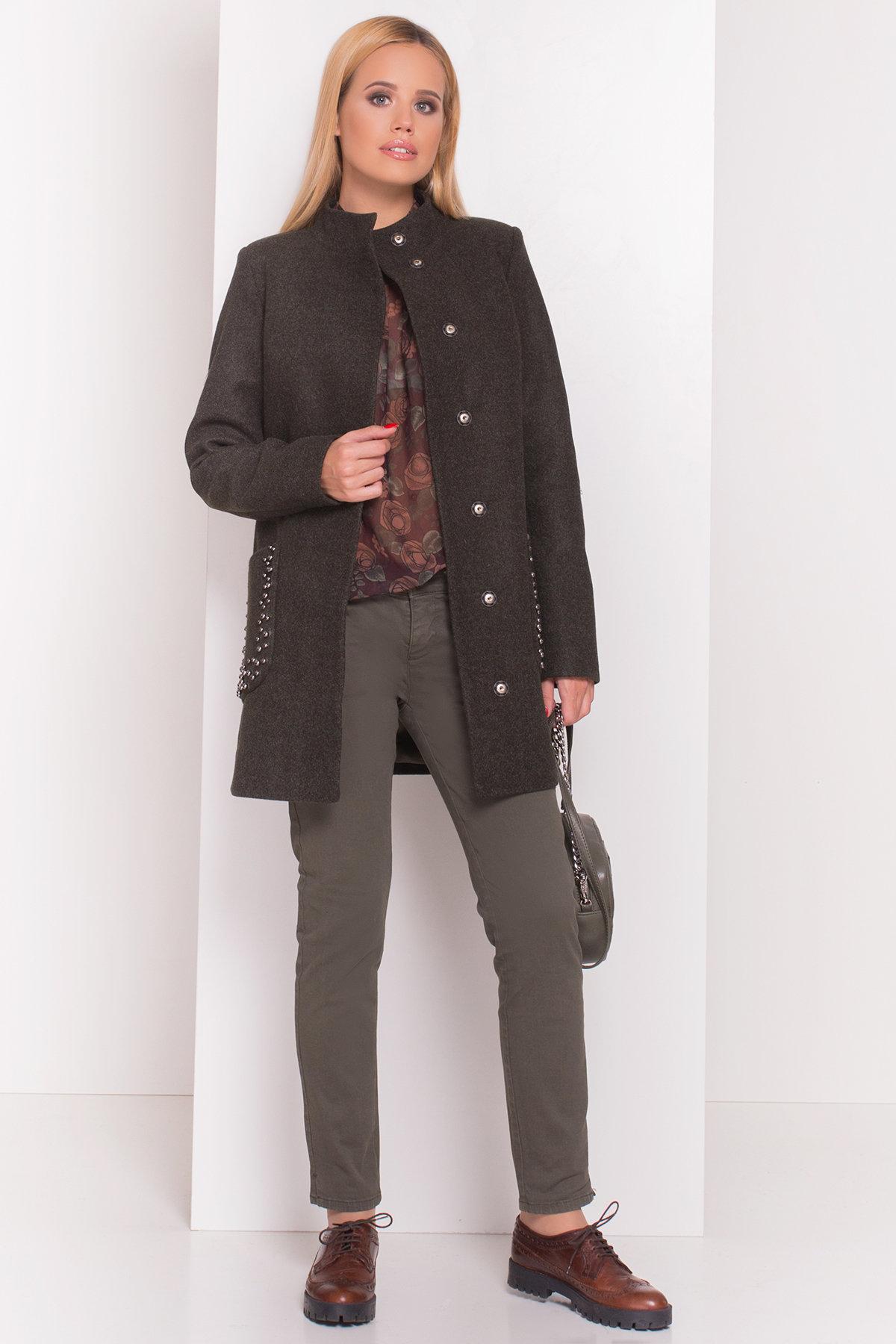 Пальто Даймон 5377 АРТ. 36746 Цвет: Хаки - фото 1, интернет магазин tm-modus.ru
