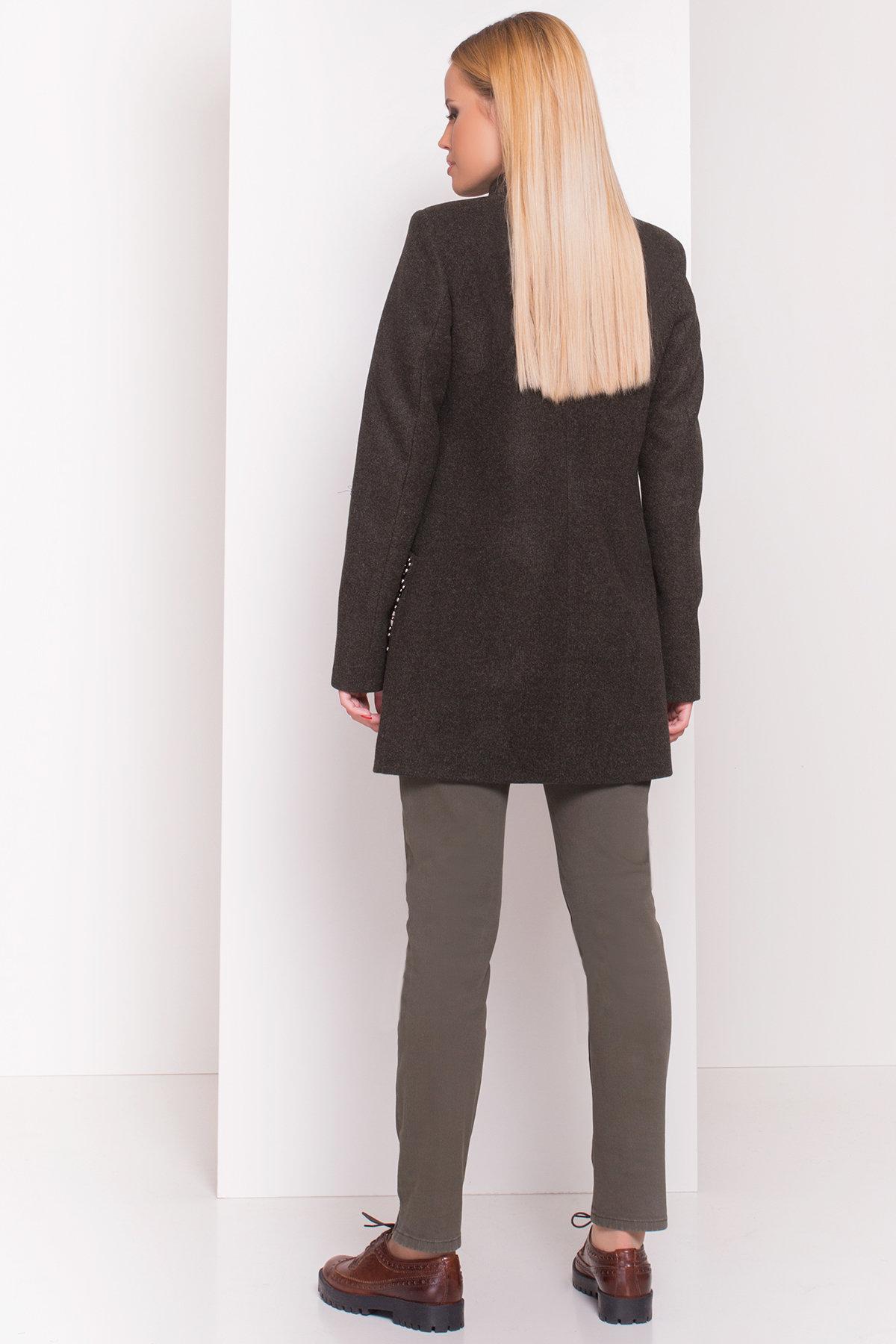Пальто Даймон 5377 АРТ. 36746 Цвет: Хаки - фото 4, интернет магазин tm-modus.ru