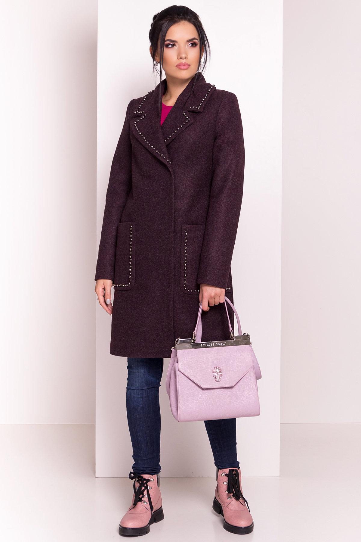 Пальто Кейси 5504 АРТ. 37028 Цвет: Марсала - фото 2, интернет магазин tm-modus.ru