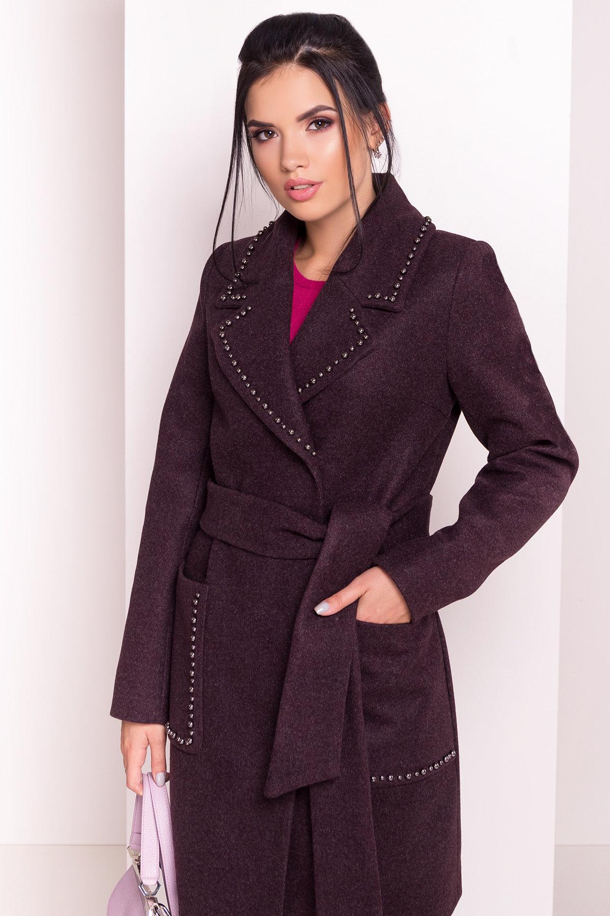 Пальто Кейси 5504 АРТ. 37028 Цвет: Марсала - фото 4, интернет магазин tm-modus.ru