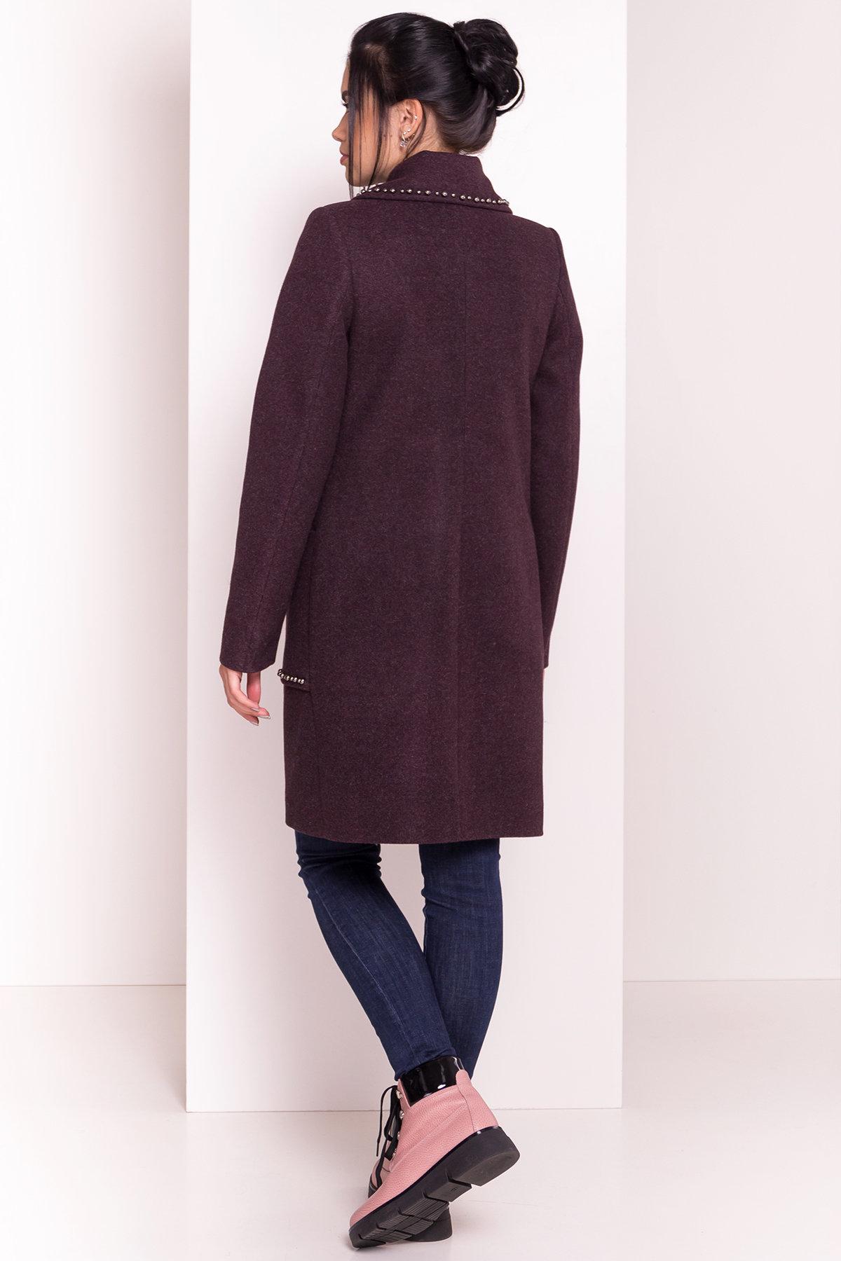 Пальто Кейси 5504 АРТ. 37028 Цвет: Марсала - фото 5, интернет магазин tm-modus.ru