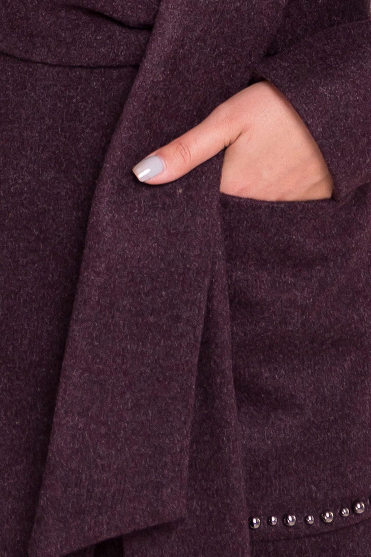 Пальто Кейси 5504 АРТ. 37028 Цвет: Марсала - фото 6, интернет магазин tm-modus.ru