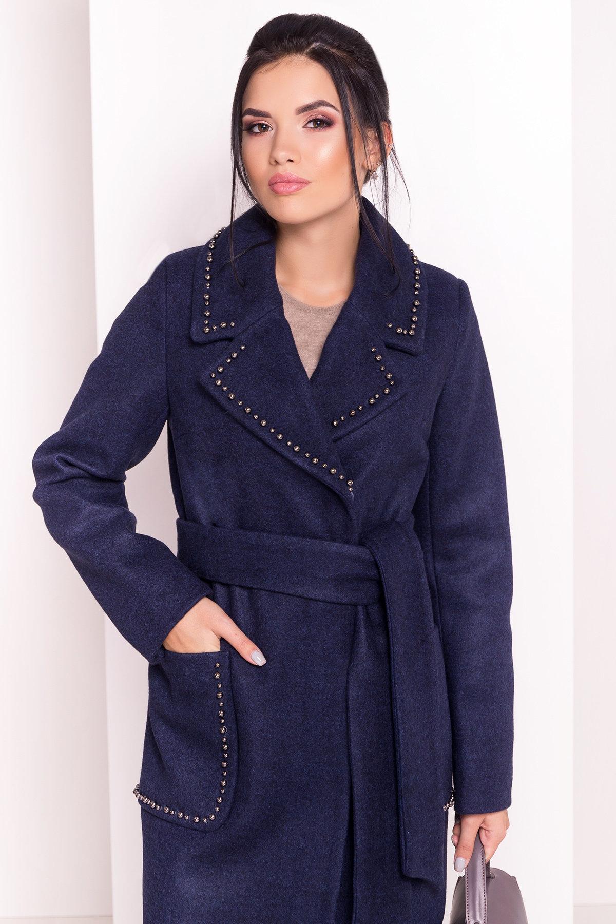 Пальто Кейси 5504 АРТ. 37032 Цвет: Темно-синий 17 - фото 3, интернет магазин tm-modus.ru