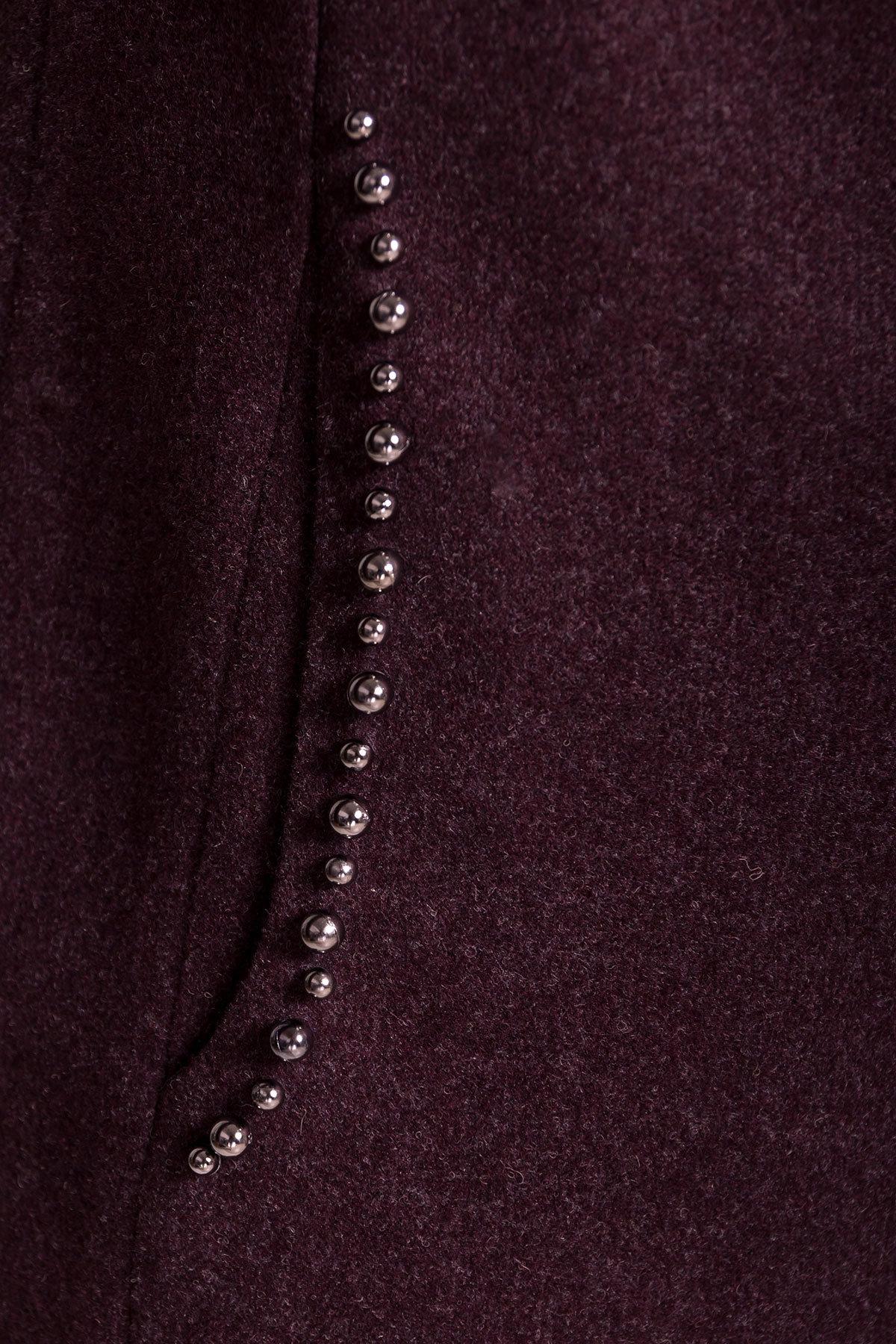 Весенние пальто Пелагея 5512 АРТ. 37056 Цвет: Марсала - фото 5, интернет магазин tm-modus.ru