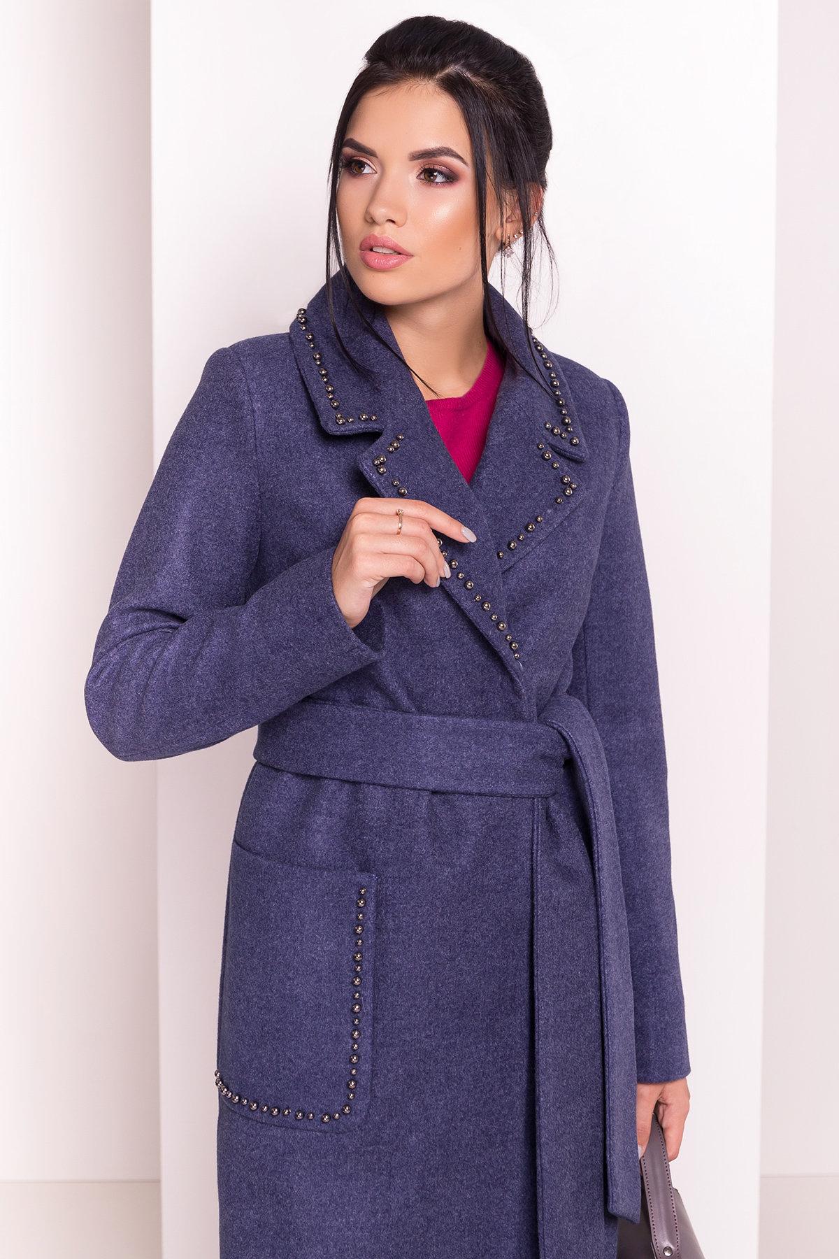 Пальто Кейси 5504 АРТ. 37026 Цвет: Джинс - фото 3, интернет магазин tm-modus.ru
