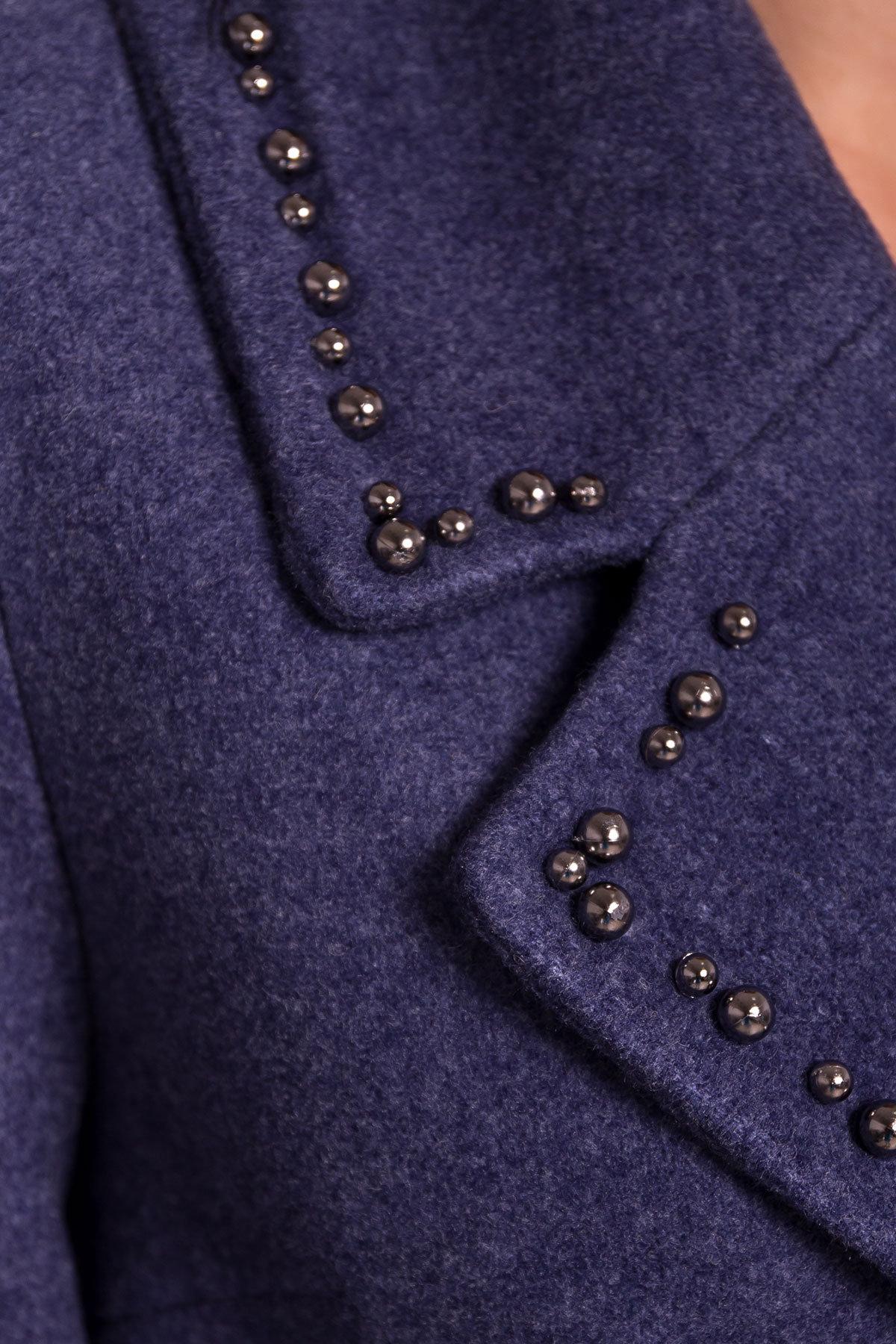 Пальто Кейси 5504 АРТ. 37026 Цвет: Джинс - фото 6, интернет магазин tm-modus.ru