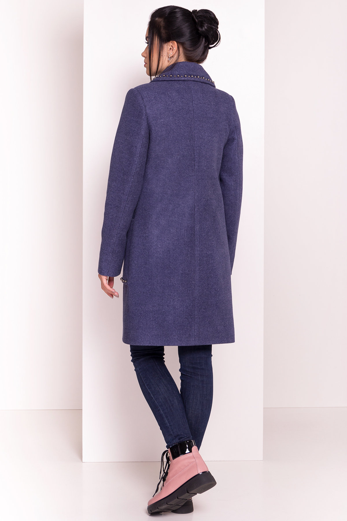 Пальто Кейси 5504 АРТ. 37026 Цвет: Джинс - фото 5, интернет магазин tm-modus.ru