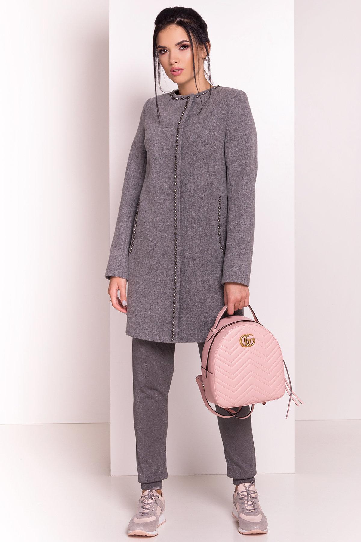 Весенние пальто Пелагея 5512 АРТ. 37057 Цвет: Серый 18 - фото 2, интернет магазин tm-modus.ru