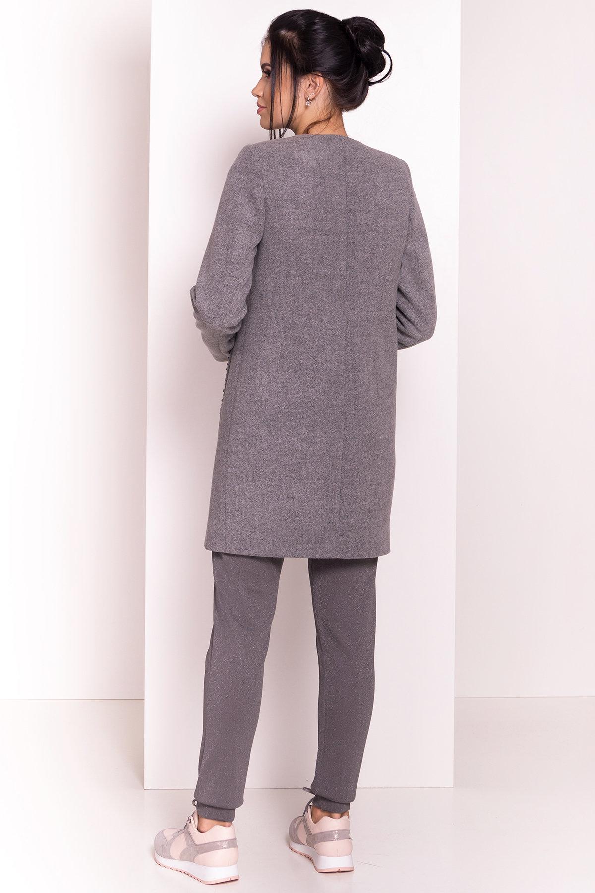 Весенние пальто Пелагея 5512 АРТ. 37057 Цвет: Серый 18 - фото 4, интернет магазин tm-modus.ru